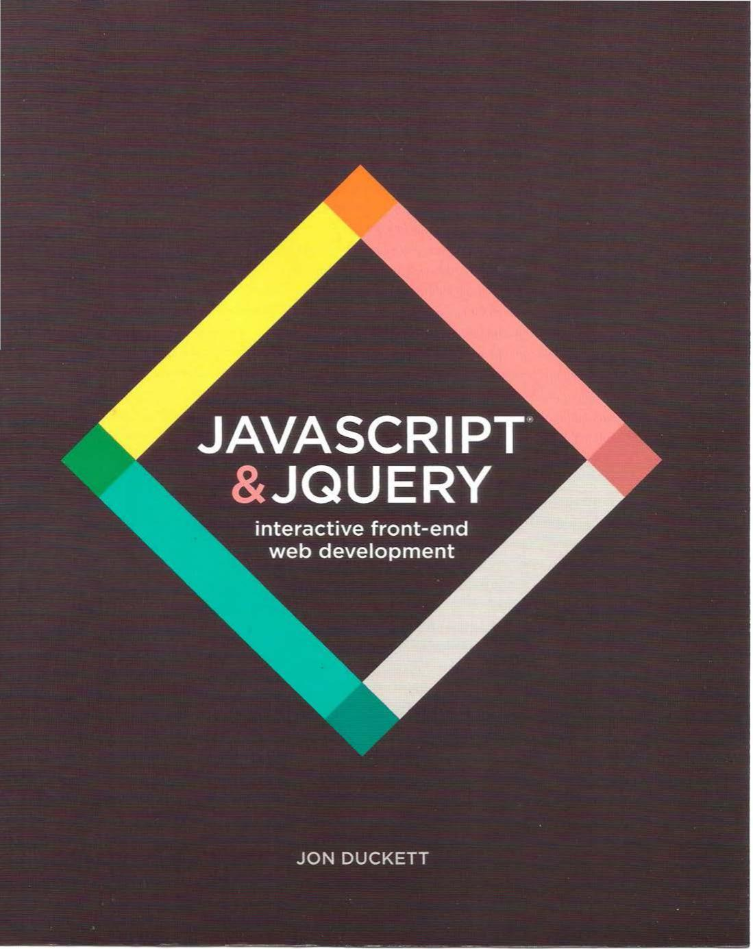 Javascript and JQuery: Interactive Front-End Web Development cover